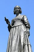 picture of nightingale  - Victorian memorial statue of Florence Nightingale 1820 - JPG