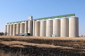 picture of veld  - Grain silo at Koppies in the Free State Province of South Africa - JPG