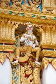 pic of hanuman  - Hanuman sculpture at Thai temple in Bangkok Thailand - JPG