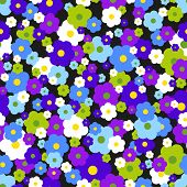 pic of dainty  - Seamless pattern with small flowers on a dark background - JPG