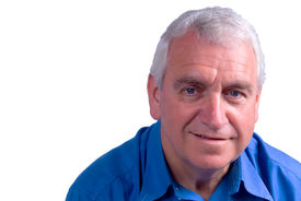 picture of older men  - grey haired man in sixties looking content - JPG