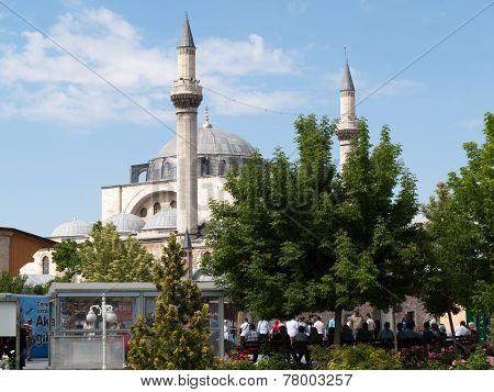 Mevlana museum mosque in Konya in Turkey