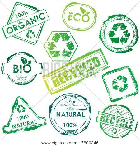 Vector eco stamps