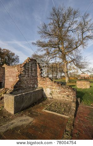 Remains of a farm in Winterswijk in the east of the Netherlands