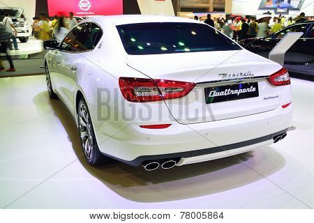 Nonthaburi - December 1: Maserati Quattroporte Car Display At Thailand International Motor Expo On D
