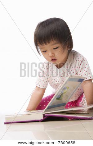 Litlle Kid Reading Book
