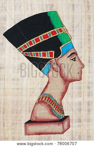 Nefertiti On Papyrus