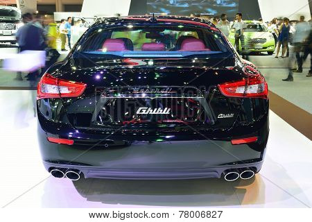 Nonthaburi - December 1: Maserati Ghibli Car Display At Thailand International Motor Expo On Decembe