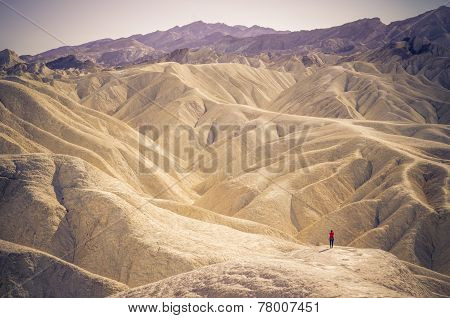 Zabriskie Point At Death Valley,california