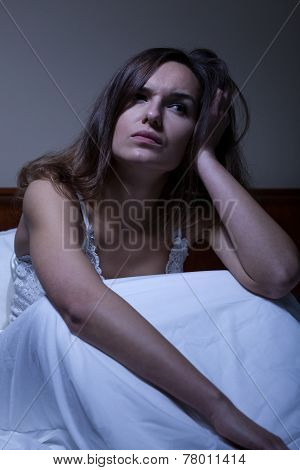 Young Woman With Sleeplessness