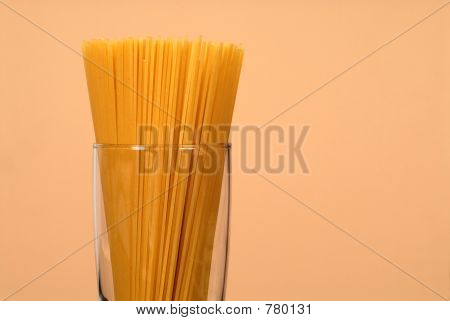Spaghetti in clear glass