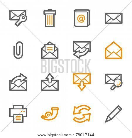 Email web icons set