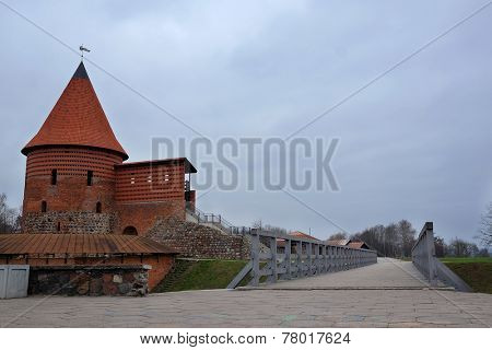 Kaunas, Lithuanian - November, 17, 2014: views of the old town in Kaunas