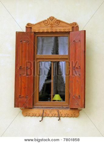Vintage Wooden Home Window