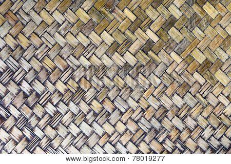 Pattern Wickerworks Of Bamboo Art.