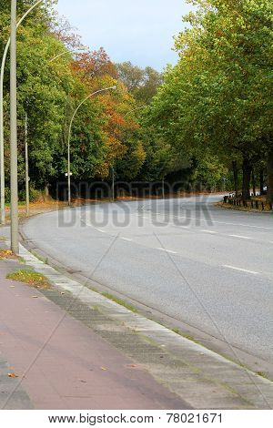 The Empty Road With Curve