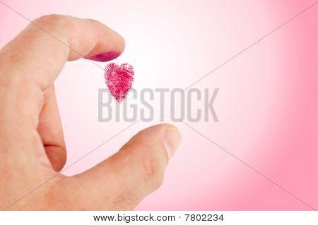 Heart Shaped Fingerprint