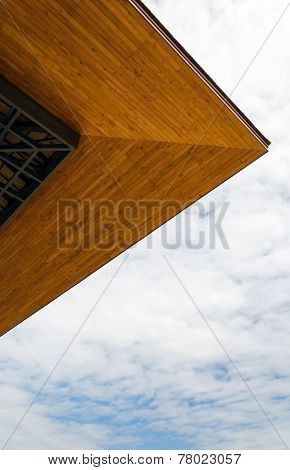 Eaves Of The House On A Blue Sky