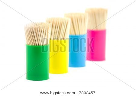 Tooth Picks In Jar