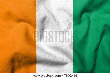 3D Flag Of Cote D'ivoire