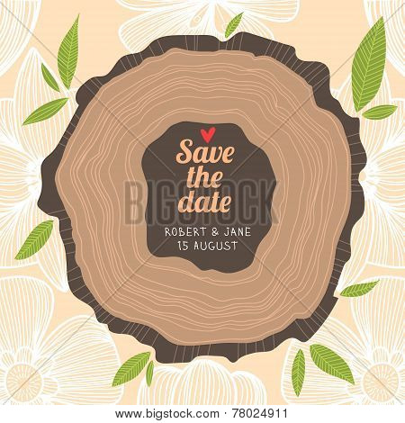 Stylish Save The Date Card In Pastel Colors.vector Romantic Wallpaper - Ideal For Wedding Designs. V