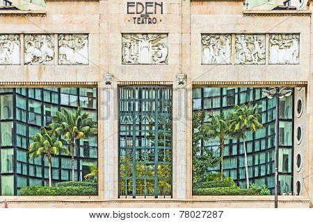 Facade Of Eden Theater In Lisbon
