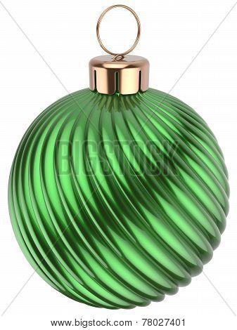 Christmas Ball Happy New Years Eve Bauble Green Decoration
