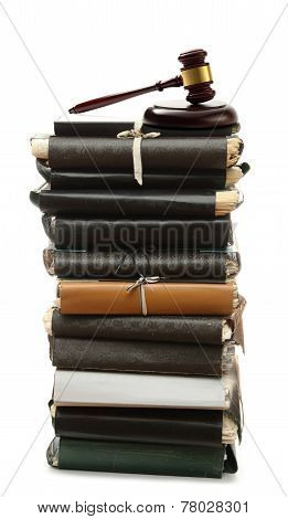 Paper Folders And Gavel