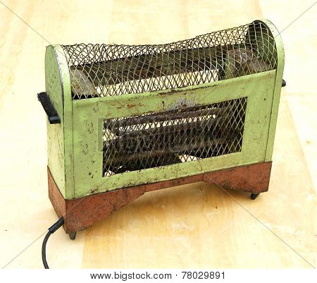 Heater Vintage Electric Rusted