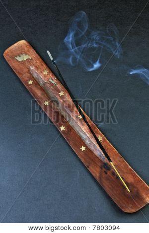 Smoldering Incense Sticks