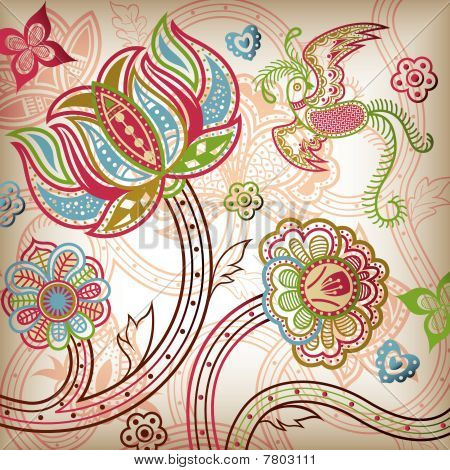 Floral and Quetzal