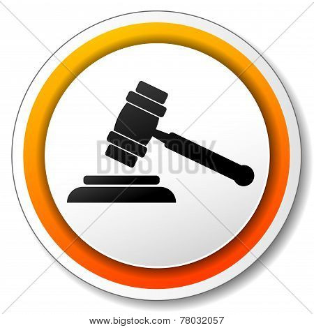Gavel Orange Icon