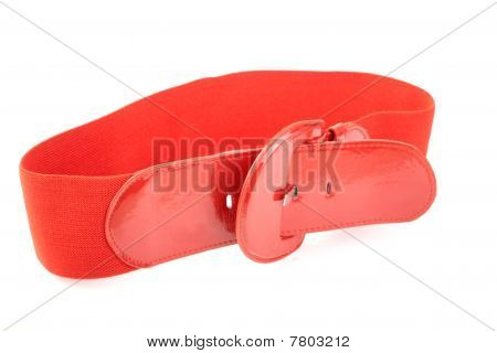 Red Wide Female Belt