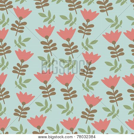 Tulip design pattern seamles illustration