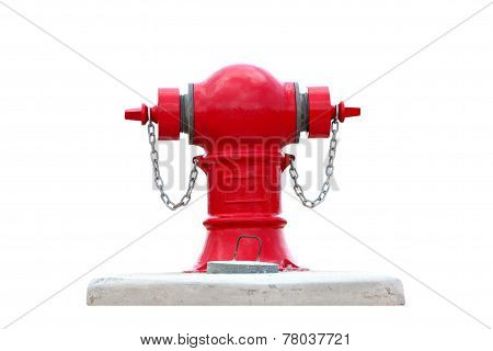 Red Fire Hydrant Water Isolated.