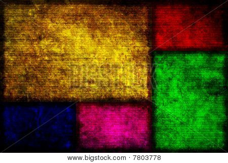 Color Boxes Grunge Background