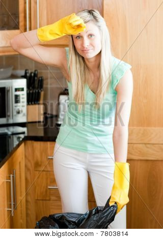 Bright Housewife Cleaning