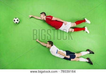 Two superhero football players