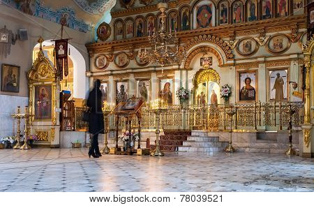 Orthodox Christians Inside The Resurrection Cathedral