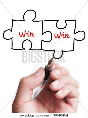 Double Win Puzzle Concept