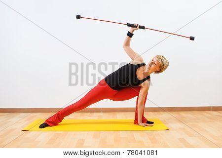 Body bar exercise