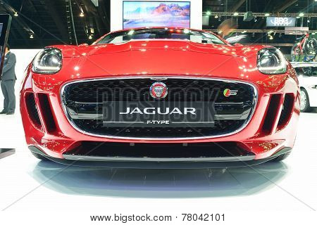 Nonthaburi - December 1: Jaguar F-type Car Display At Thailand International Motor Expo On December