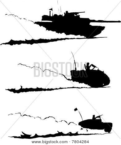 Desert Patrol Military Vehicles Raising Dust : Bigstock