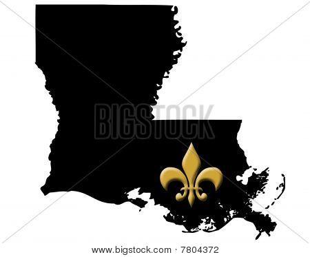 Louisiana with Fleur De Lis