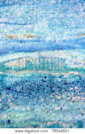 Abstract Blue Watercolor Textures 5