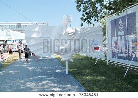 Perm, Russia - Jun 11, 2013: Exhibit Perm Bestiary At Festival White Nights In Perm