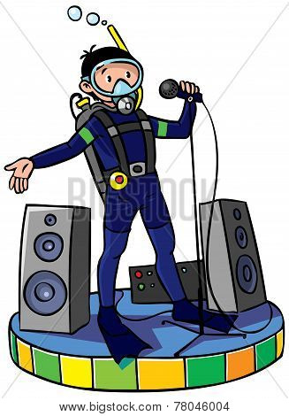 Diver With Microphone