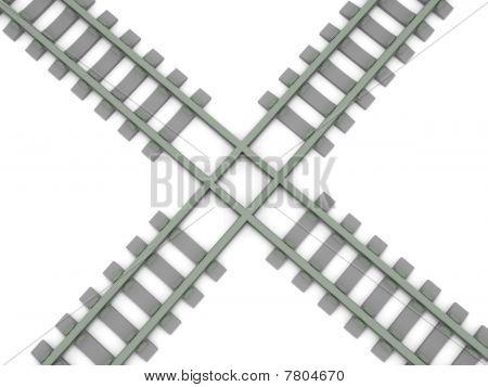 Gekreuzte Railroad