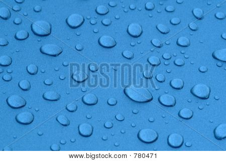 Water drops in metalized surface