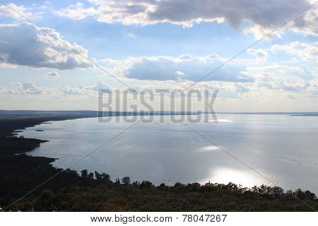 Lake Balaton in Hungary, the largest lake in central Europe